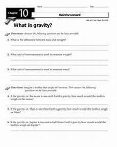 what is gravity worksheet for 2nd 3rd grade lesson planet