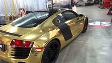 audi r8 gold gold audi r8 leaving