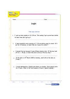 math logic games quizzes and worksheets for kids