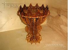decorative vase fruit bowl with stand laser cut scroll saw
