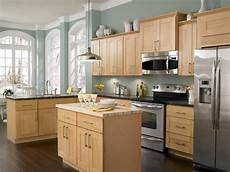 love this wall color with the maple cabinets and dark wood floors an exact match for my kitchen