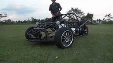 t rex three wheel motorcycle test drive replica