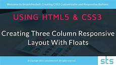 html5 and css3 three column responsive layout youtube