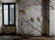 ti vedo wall light ceramic owl 216 36 h 40 cm white by karman made in design uk