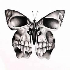 Designs Creative Skull Butterfly татуировка в