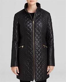 via spiga coats via spiga coat zip front quilted in black lyst