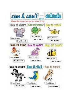 can animals do worksheets 13837 worksheet can can 180 t with animals educacion ingles actividades de ingles verbos ingles