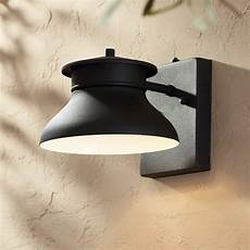 danbury 6 quot high black dusk to dawn led outdoor wall light 5y088 ls plus
