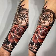 75 rose and compass tattoo designs meanings choose