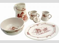 Casual Home Sky Ranch Western Style Dinnerware Serving Set