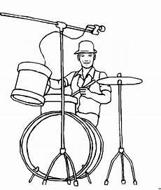 Malvorlagen Instrumente Gratis Schlagzeuger Ausmalbild Malvorlage Musik
