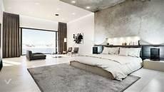 Concrete Finished Modern Bedroom 3d Visualization Interior