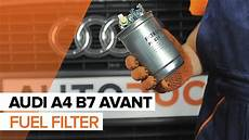 how to replace a fuel filter on audi a4 b7 avant tutorial