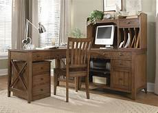 at home office furniture hearthstone 4pc office desk set 382 ho in rustic oak w options