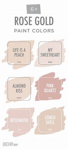 view your life through rose colored glasses with this rose gold color palette from behr paint