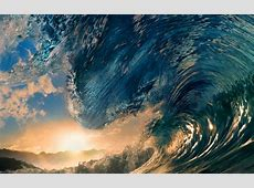 Waves sunlight surfing tropical paradise ocean sea