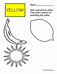 color yellow worksheets for preschool 12892 color activities teaching