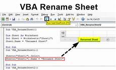 vba rename sheet how to rename sheet in excel using vba