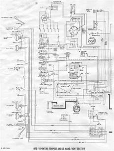 Pontiac Tempest And Le Mans 1970 1971 Front Section Wiring