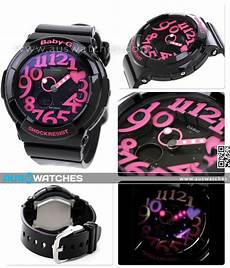 buy casio baby g black neon illuminator alarm bga