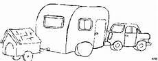 auto mit wohnwagen ausmalbild malvorlage auto
