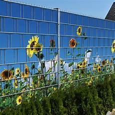Sonnenblumen Doppelstabmatten Sichtschutzstreifen