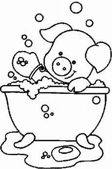 Lustige Schweine Ausmalbilder Schwein In Der Wanne Ausmalbild Malvorlage In Der