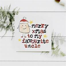 merry christmas to my favourite uncle card by parsy card co notonthehighstreet com