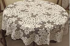 Tischdecke 160 Rund - tischdecken tischl 228 ufer rund oval baumwolle aus gestickter