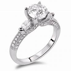 forevermark diamond trilogy engagement ring 18k white gold lugaro