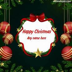 write name merry christmas wishes greeting cards images