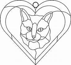 brook studio stained glass free patterns cats