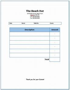 free software food service invoice template
