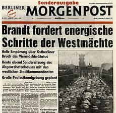 bild zeitung berlin august 1961 so titelten axel springer zeitungen zum