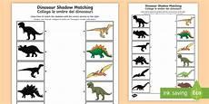 dinosaur matching worksheets 15344 dinosaur shadow matching worksheet activity sheet