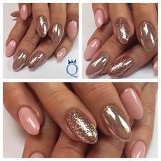 Almondnails Gelnails Nails Rosegoldleaf Akz 233 Ntz