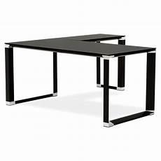 bureau verre noir bureau d angle design quot hovik quot verre noir