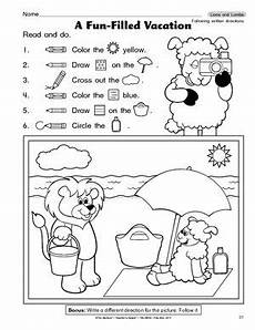 following directions worksheets kindergarten 11712 following directions activity for grade search following directions activities