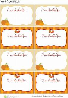 thanksgiving food label cards template thankful for you free printable thanksgiving crafts