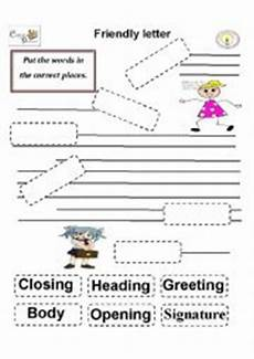 english worksheets friendly letter