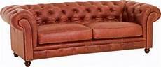 sofa 2 5 sitzig ledersofa leder vintage cognac