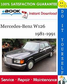 car owners manuals free downloads 1991 mercedes benz s class transmission control mercedes benz w126 service repair manual 1981 1991 download pdf download
