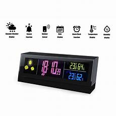 Digital Alarm Clock Temperature Humidity Weather by Cube Wireless Weather Station Digital Alarm Clock With