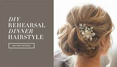 diy wedding day hairstyles rehearsal dinner knotted updo