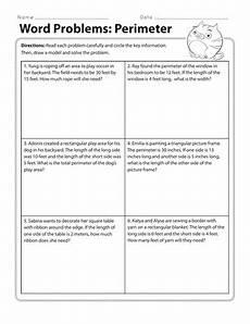 perimeter word problems worksheet grade 4 11327 perimeter worksheets education