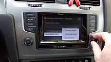 vw golf vii car settings menu in composition media radio
