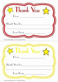 thank you card template for students from thank you notes