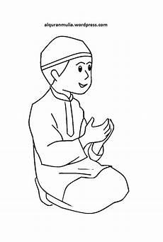 Mewarnai Gambar Kartun Anak Muslim 32 Alqur Anmulia