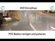 pvc boden reinigen und polieren