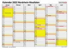 kalender 2022 nrw ferien feiertage excel vorlagen